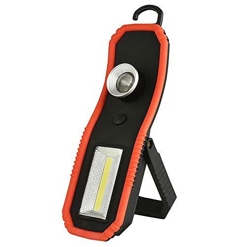 Preisvergleich Produktbild LED Arbeitsleuchte Werkstattlampe COB Inspektionslampe,  LUXNOVAQ Tragbare Handlampe Zoombare Arbeitslampe mit Ständer & Magnetisch Base & Hängen Haken für Mechaniker Garage Auto LKW Reparatur
