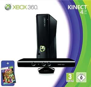 Xbox 360 - Console 4 GB con Sensore Kinect, Abbonamento Xbox Live Gold da 1 mese e Kinect Adventures [Bundle]