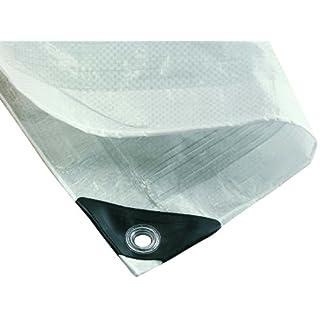 NOOR Abdeckplane HOBBY 120g/m² Weiß I 3 x 4 m I Allzweckplane für Schutz vor Witterung I Ideal geeignet für den Garten I UV-stabilisiert, beidseitig beschichtet, wasserfest, abwaschbar & langhaltig