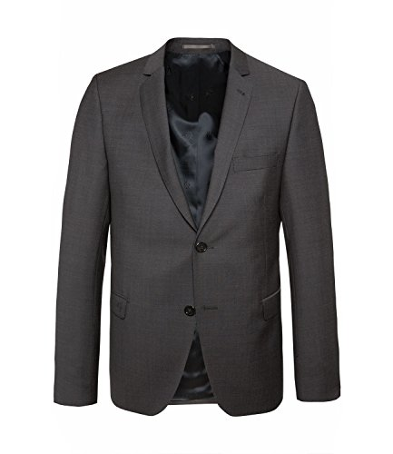 Michaelax-Fashion-Trade - Blazer - Uni - Manches Longues - Homme Gris - Gris anthracite