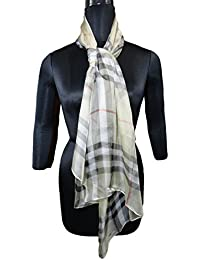 Justkartit Women's & Girl's Fashionable Scarf 2017 / 100% Silk Printed Scarf / High Quality Daily Use Scarf /...