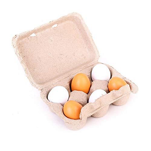 Uova giocattolo cartone legno set gioco Giocare Uova di Pasqua eigelb Pretend bambini montaggio bambini vorschule Attrezzo Pedagogico giocattolo cucina alimentare giocattoli per bambini 6PCS