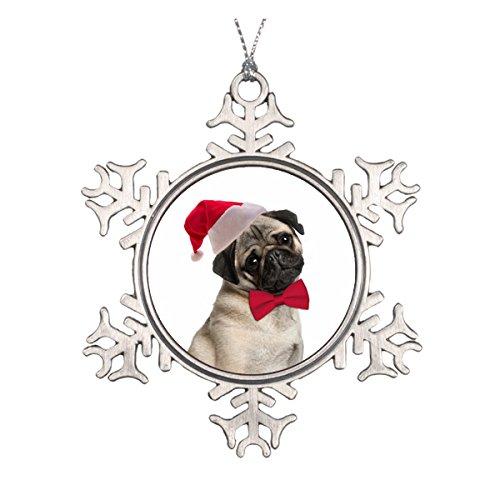 Daily Lady Santa Mops Ornament -