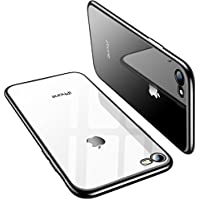 TORRAS iPhone 8 Case, iPhone 7 Case, Ultra Thin Slim Crystal Clear Case with Stylish Edge Soft Silicone TPU Gel Bumper Case Cover for iPhone 7/ iPhone 8 - Black