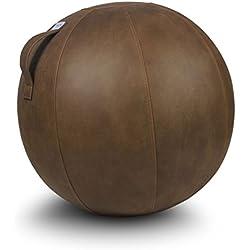 VLUV VEEL Zitbal Kunstleder Cognac 65 cm