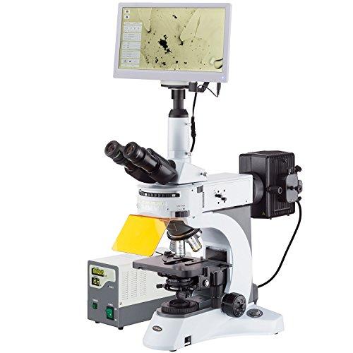 Amscope 40x -1000x verticale fluorescenza microscopio con girante multi-filter torretta + HDMI fotocamera + pellicola