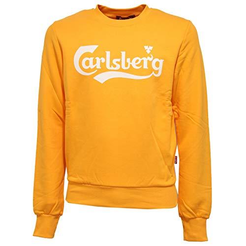Carlsberg 8557K Felpa Uomo Yellow Heavy Cotton Sweatshirt Man [L]