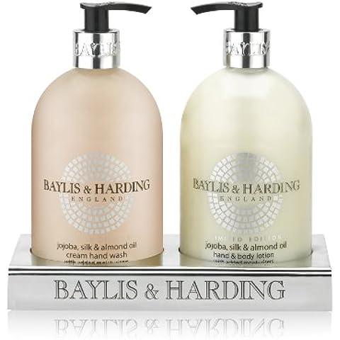 Baylis y Harding Jojoba, seda y Aceite de Almendras 2 Botella Set Acrílico (Body Lotion Set de regalo), Paquete 1er (1 x 1 pieza)