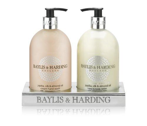 Baylis & Harding Geschenkset, Jojoba, Seide & Mandelöl, 1er Pack (Hand Geschenk-set Seife)