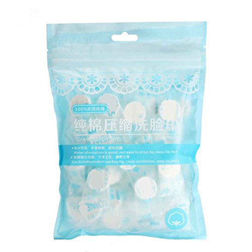 Deinbe 50pcs / Set de Toallas Desechables Aire comprimido mágico Viaje algodón Máscara de Tejido de Tela de la Tableta de Papel Toallitas