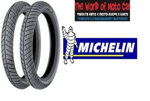 Paire de pneus michelin modèle city pro 120/80 - 16 60p 100/80 - 16 50P