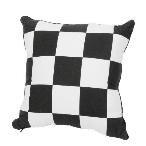 Black White Trellis Pattern Lendenrückenstütze Kissen Kissen für Auto (White Trellis)
