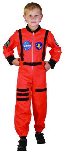 Generique - Astronauten-Kostüm für Jungen 110/116 (4-6 - Kinder Astronaut Kostüm Orange