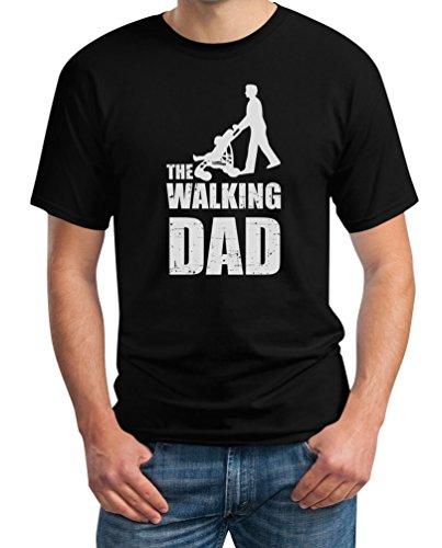 Spezial: Baby Papa Geschenke zum Vatertag - The Walking Dad Herren T-Shirt XX-Large Schwarz (Walking Dead Sachen)