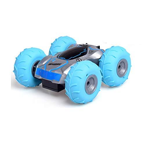 (LSQR Fernsteuerungs Aller Gelände-Bremsungs-Rennwagen, 360 ° Stolperndes Aufprallendes Flexibles Elektrisches Gesteuertes 2.4Ghz Aufblasbares Reifen-RC-Fahrzeug-Jungen-Mädchen-Geschenk-Spielzeug,Blue)