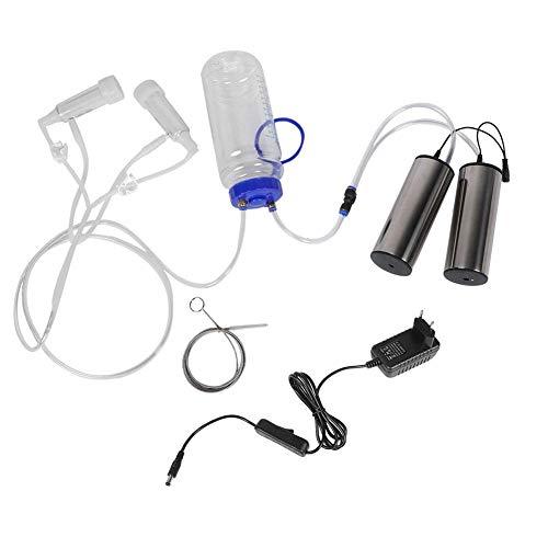 Pssopp 2L Melkmaschine Elektrische Ziege Melkmaschine Starker Doppel Motor Vakuumpumpe Melkmaschine mit Reinigungs Bürste für Kuh Order Ziege (für Ziege) -