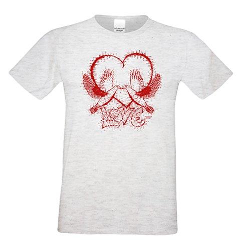 Geschenk Valentinstag : : Herren Kurzarm T Shirt : : Love :