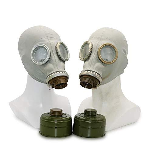 Kostüm Mit Gas Maske - OldShop Gasmaske GP5 Set (2 Pack) - Sowjetische Militär Gasmaske Replica Sammlerstück Set W/ Maske, Tasche, Filter - authentischer Look & Verschiedene Größen erhältlich