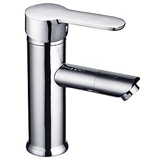 41hoakO1jIL. SS324  - DP Grifería SA-0001 Grifo monomando de lavabo serie Roble