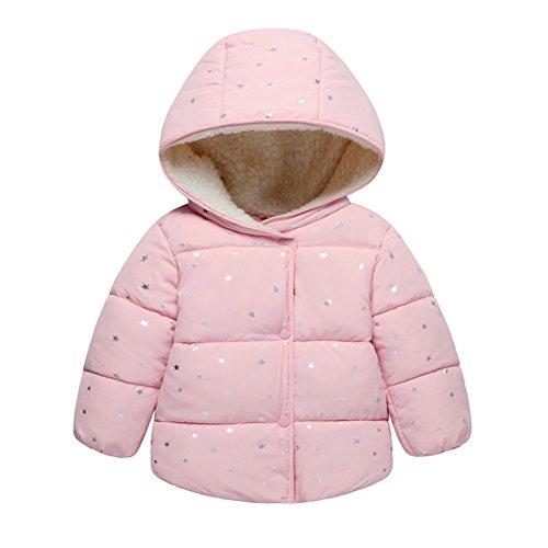 Baby gepolsterte Wintermantel Jacke kleine Sterne gedruckt mit Kapuze warme Säugling kurze Snowsuit Outwear für Jungen und Mädchen von (Kostüme Halloween Einfacher Junge)
