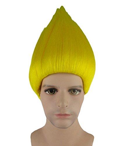 Trolle Film Cosplay Kostüm Perücke neon gelb anhm-088uk (Kostüme Für Einfache Zeichen Film)