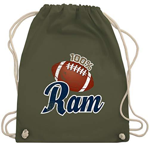 American Football - 100% Ram - Unisize - Olivgrün - WM110 - Turnbeutel & Gym Bag Die Bowl Mill