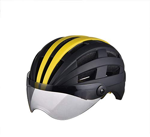 Relddd Bicycle Helmet Made of EPS+PCFahrrad Helm mittels Eps + pc Made Leuchtende Brille Helm Fahrrad Helm Sport Outdoor-Helm Helm Reithelme