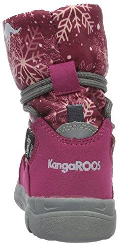 KangaROOS Sympa In 2105 B, Bottes courtes avec doublure chaude mixte enfant Rose - Pink (berry print 666)