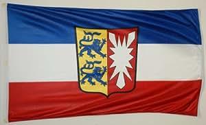 Michael & Rene Pflüger Barmstedt Verstärkte Stoffqualität - Flagge Schleswig Holstein 120 x 180 cm Fahne Ösen Geschenkidee