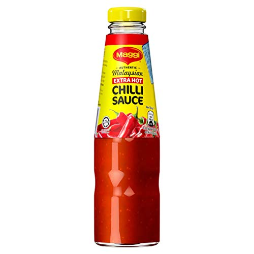 Maggi Extra Hot Chilli Sauce, 320 g (Pack of 6)