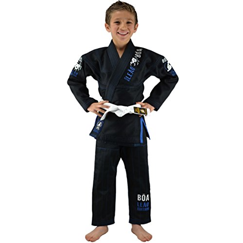 Bõa Kinder Kimono Leão 2.0 Bjj Gi, Schwarz, M1 (Kinder Jiu-jitsu Gi-mädchen)
