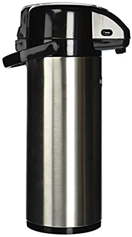 Winco Stainless Steel Lined Airpot, 3-Liter, Lever Top by Winco