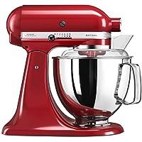 KitchenAid Artisan 5KSM175PS Robot de cocina (4,8 L, Rojo, palanca,