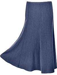 VSG Online Ladies Long Maxi Skirt Plain Coloured 31 Inch Length Size 10 To 30