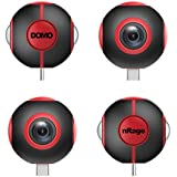 Domo 720 Degree VR Panoramic Camera for Smartphones with Type C and Micro USB Port