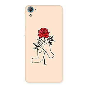 Neo World Rose Hand Art Back Case Cover for HTC Desire 826