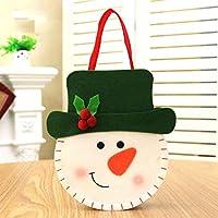 Lovelysunshiny Weihnachtssüßigkeitstasche Weihnachtsweihnachtsmann-Schneemann-Elch-Bärn-Geschenk-Handtasche