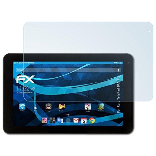 atFolix Schutzfolie kompatibel mit Xoro TelePad 9A1 Pro Folie, ultraklare FX Bildschirmschutzfolie (2X)