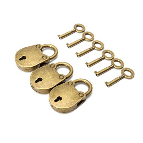Schlüssel Box Mit Antike (Lanlan Premium Bear Bag Form Lock Catch Deko Mini Vorhängeschloss mit Schlüssel 3/Set)