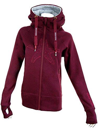 2adae2845562ee ... SEESTERN Damen Kapuzen Sweat Shirt Jacke Pullover Zip Hoody Sweater Gr.S-2XL  ...