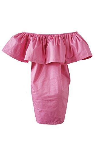 Simplee Apparel - Robe - Bandeau - Sans Manche - Femme Rose