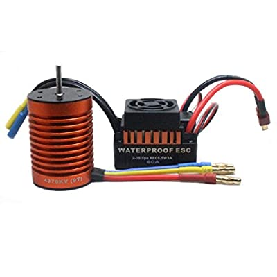 erthome 9T 4370KV Brushless Motor + 60A ESC Speed Controller Combo ME720 for 1/10 RC Car New