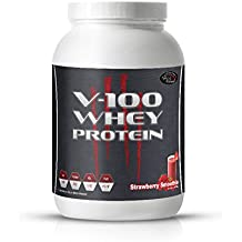 V-100 Whey Isolat 2 Kg Geschmack ERDBEERE MADE IN GERMANY