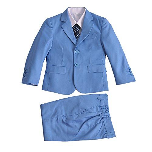 Cinda Jungen formale Hellblau Anzüge Hochzeits-Seite-Jungen-Partei-Abschlussball 5 Stück-Klage 122-128