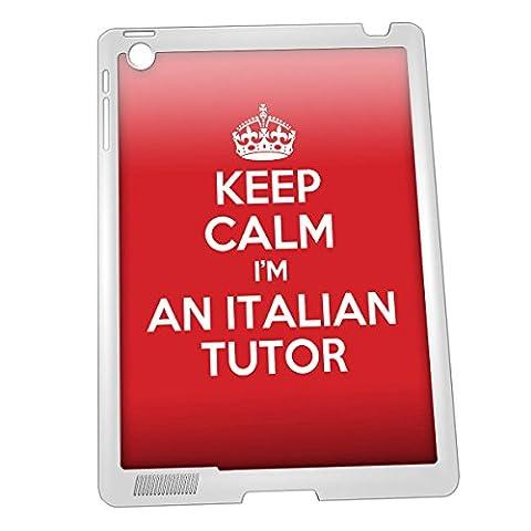 Keep Calm I'm Blanc Un italien d'apprentissage iPad 234Étui cadeau Idée Cadeau
