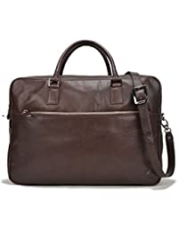 Terracomo Men's Leather Scoville Double Zip Briefcase