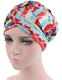 Amayay Unisex Uomo Donna Turbante del Cappello Cotone di Comodo Bandana  Stile Semplice per Perdita dei 01d8455d0040