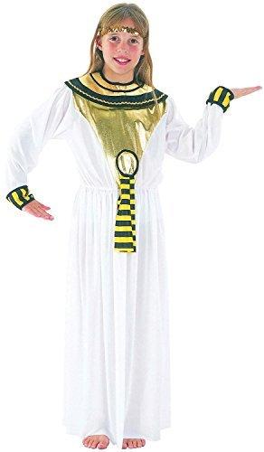 Mädchen Cleopatra Kleopatra Ägypterin Welttag des Buches Woche Historische Lineal Rund um die Welt Kostüm Kleid Outfit 4-12 Jahre - 10-12 (Buch Für Kinder Kostüm Woche)