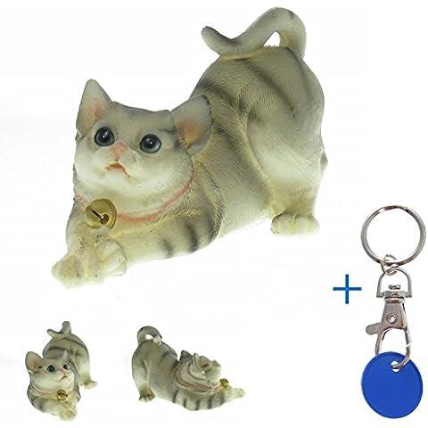 Mieze gato gatito poliresina Figura decorativa cascabeles dulce # 43528x 13x 7cm gato Figura