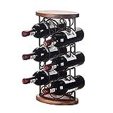 LXLA- Freistehende 6 Flaschen Wein Display Rack Holz Weinflasche Lagerung Inhaber Europäischen Stil Innenausstattung